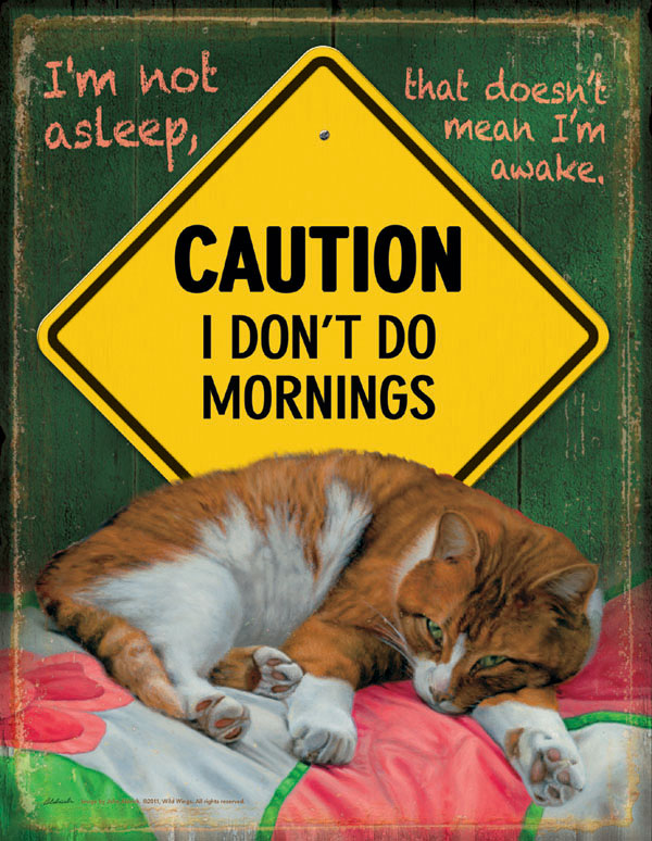 I Don't Do Mornings Cats Jigsaw Puzzle