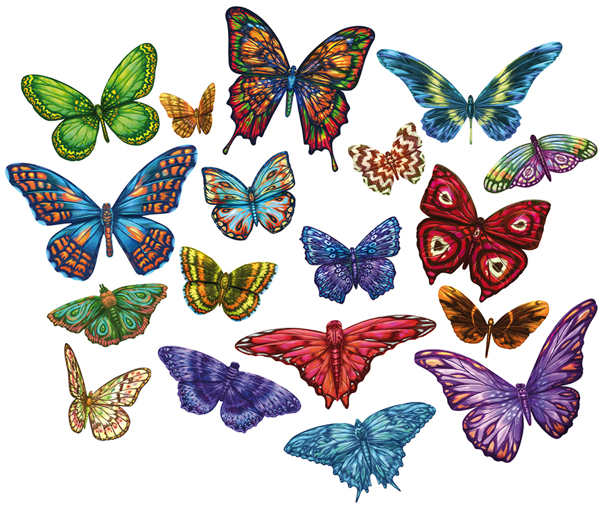 Butterflies I - Scratch and Dent Butterflies and Insects Shaped Puzzle