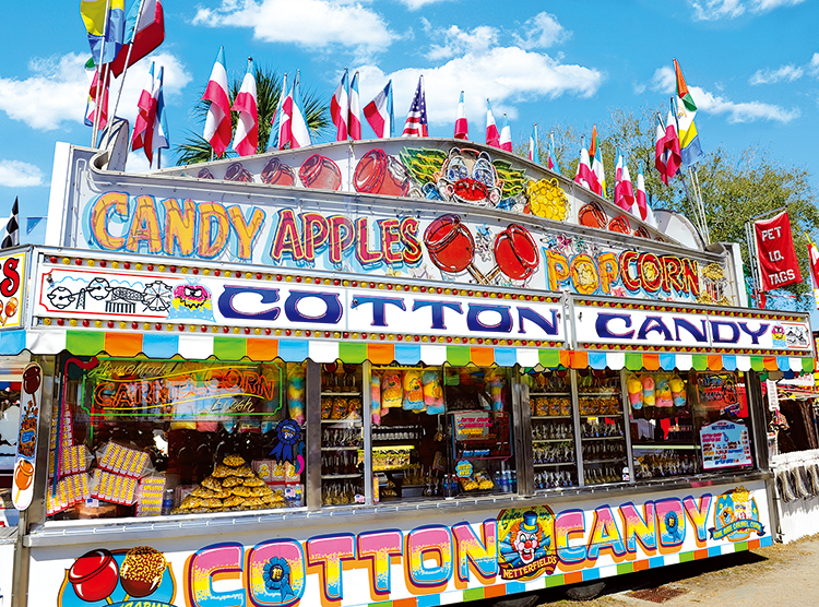 Cotton Candy Concession Stand Food and Drink Jigsaw Puzzle