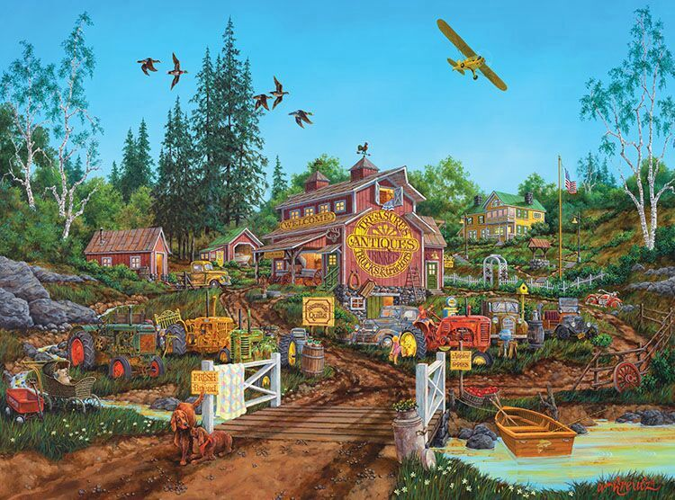 Antique Barn - Scratch and Dent Farm Jigsaw Puzzle