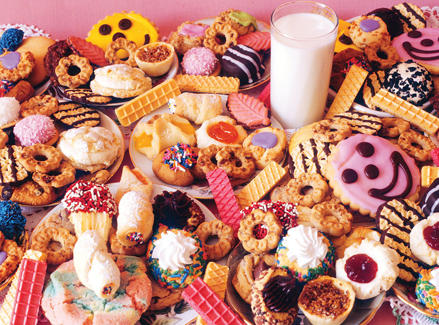 Milk and Lots o'Cookies Food and Drink Jigsaw Puzzle