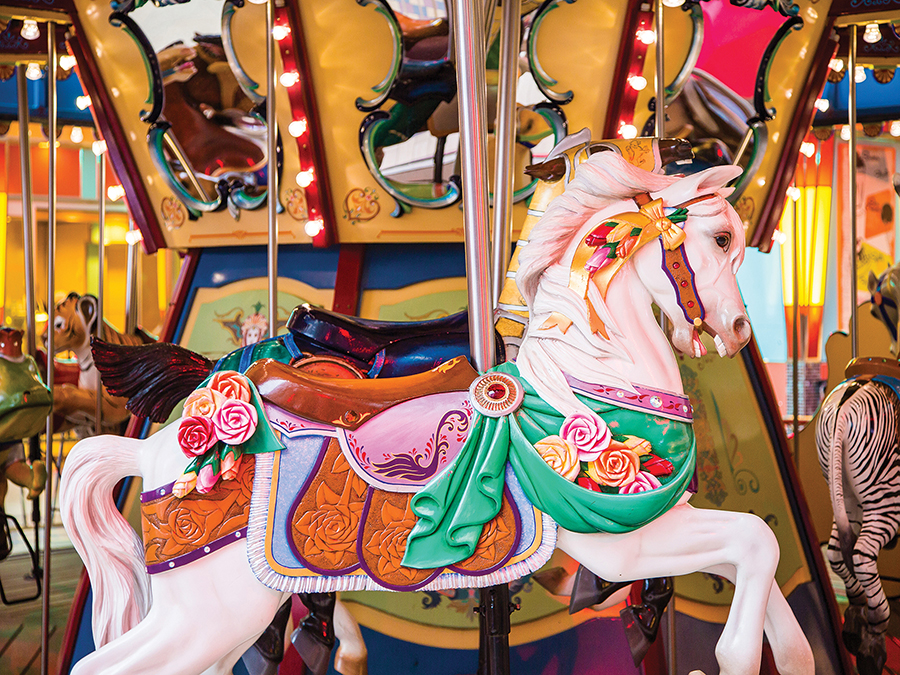 Colorful Wooden Carousel - Scratch and Dent Horses Jigsaw Puzzle