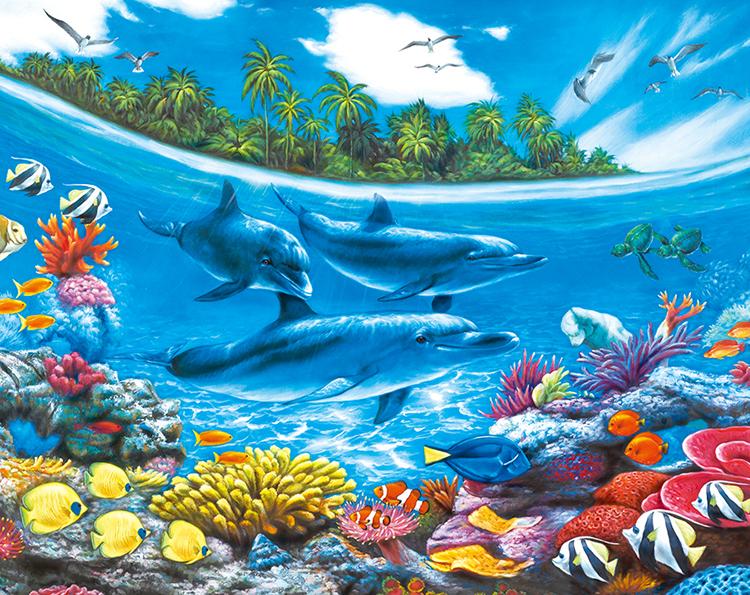 Dolphin Paradise Jigsaw Puzzle Puzzlewarehouse Com