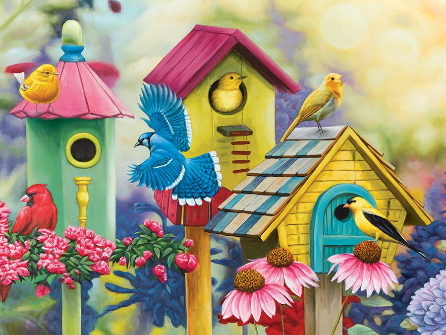 Friendly Neighbors II - Scratch and Dent Birds Jigsaw Puzzle