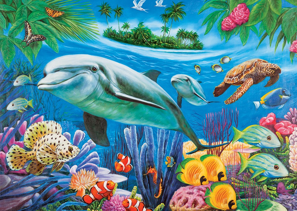 Dolphin Lagoon Under The Sea Jigsaw Puzzle