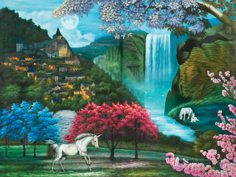 Unicorn Paradise Countryside Jigsaw Puzzle