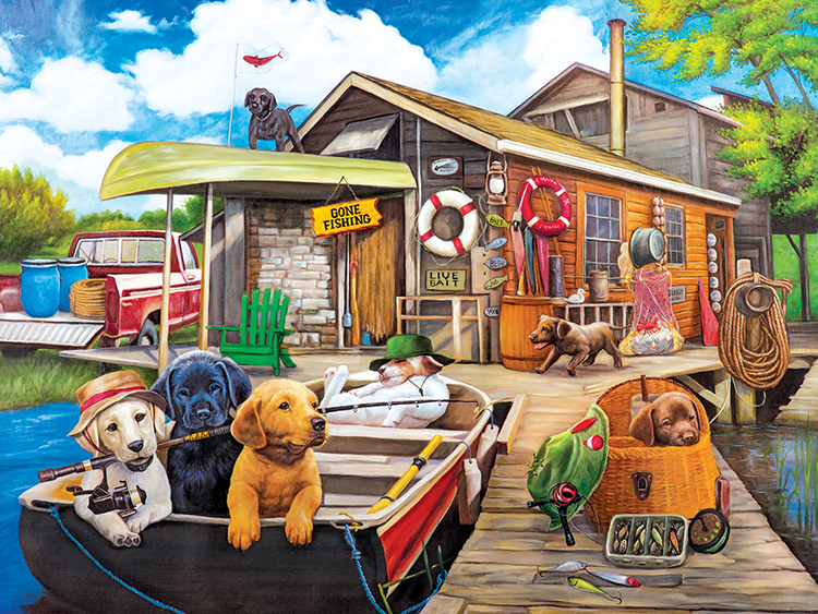 Gone Fishin' Dogs Jigsaw Puzzle