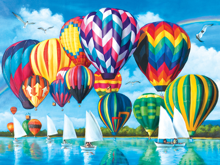 Hot Air Balloons - Scratch and Dent Boats Jigsaw Puzzle