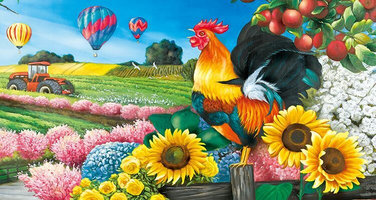 Applelane Farms Countryside Jigsaw Puzzle