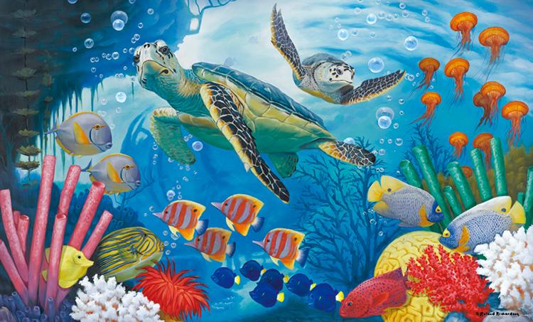 Sea Turtles Under The Sea Jigsaw Puzzle
