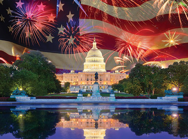 Land of the Free Patriotic Jigsaw Puzzle