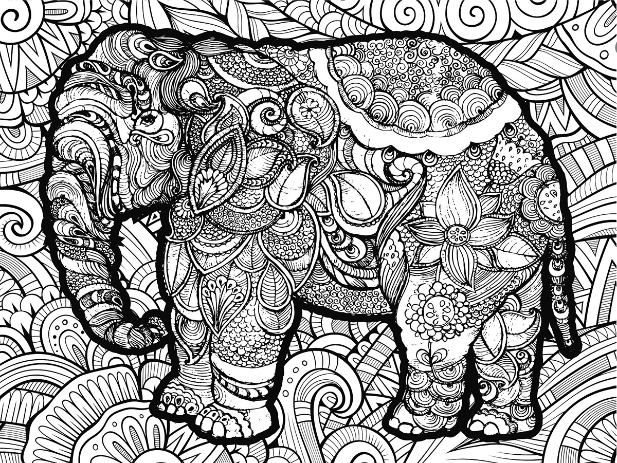 Elephant Coloring Puzzle