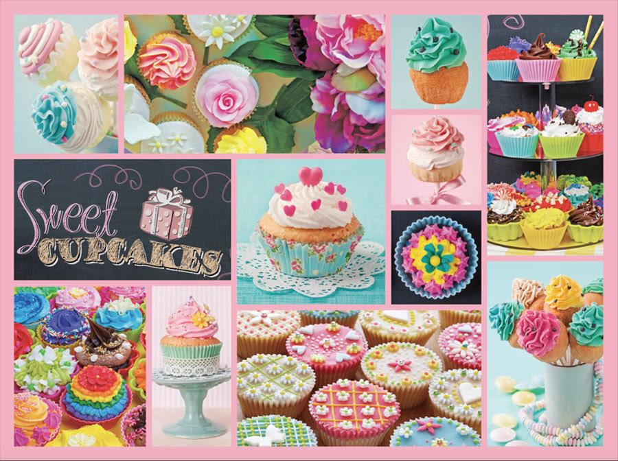 Cupcakes (Collage Collection 1000) - Scratch and Dent Sweets Jigsaw Puzzle