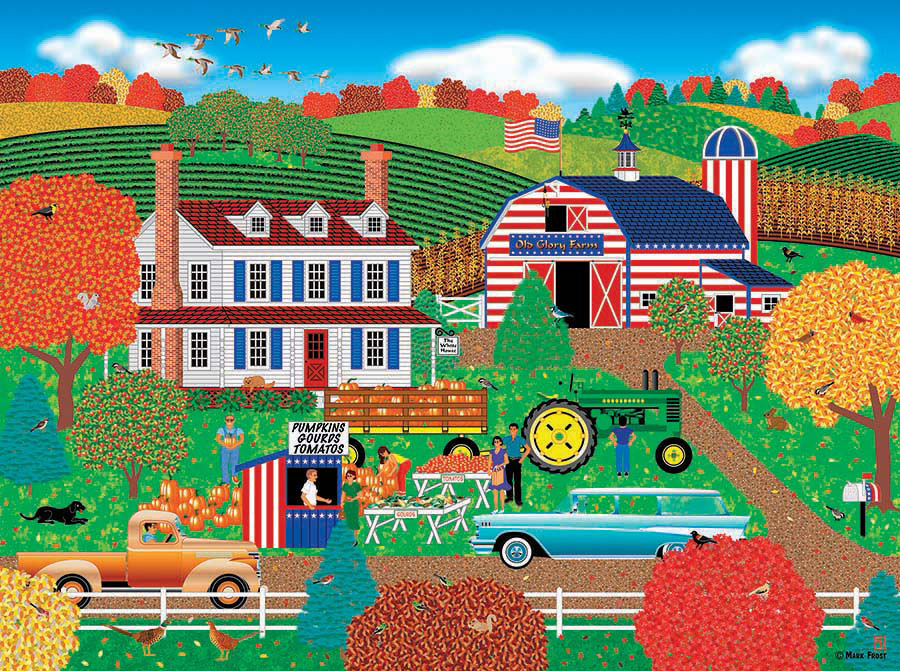 Old Glory Farm Home Country 1000 Jigsaw Puzzle