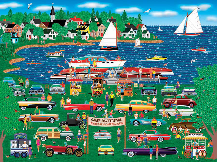 Classic Car Boat Show Puzzle