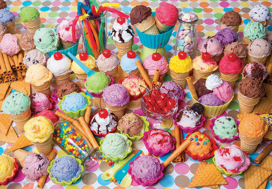 Variety Of Colorful Ice Cream Jigsaw Puzzle