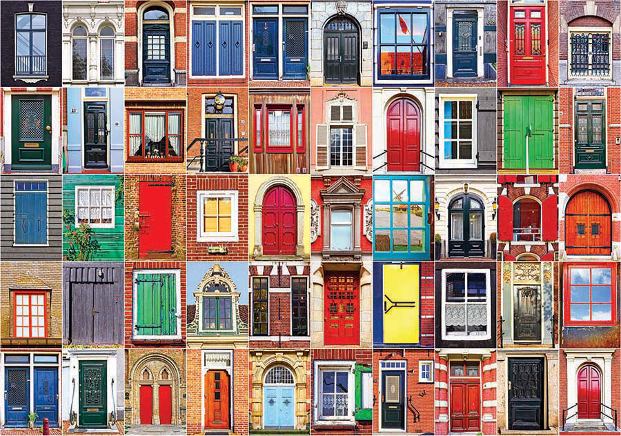 Colorful dutch doors and windows colorluxe 1500 jigsaw for 1500 french doors