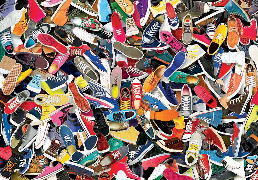 Lots of Shoes Jigsaw Puzzle