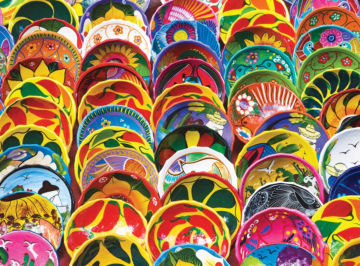 Colorful Souvenir Bowls of Mexico Mexico Jigsaw Puzzle