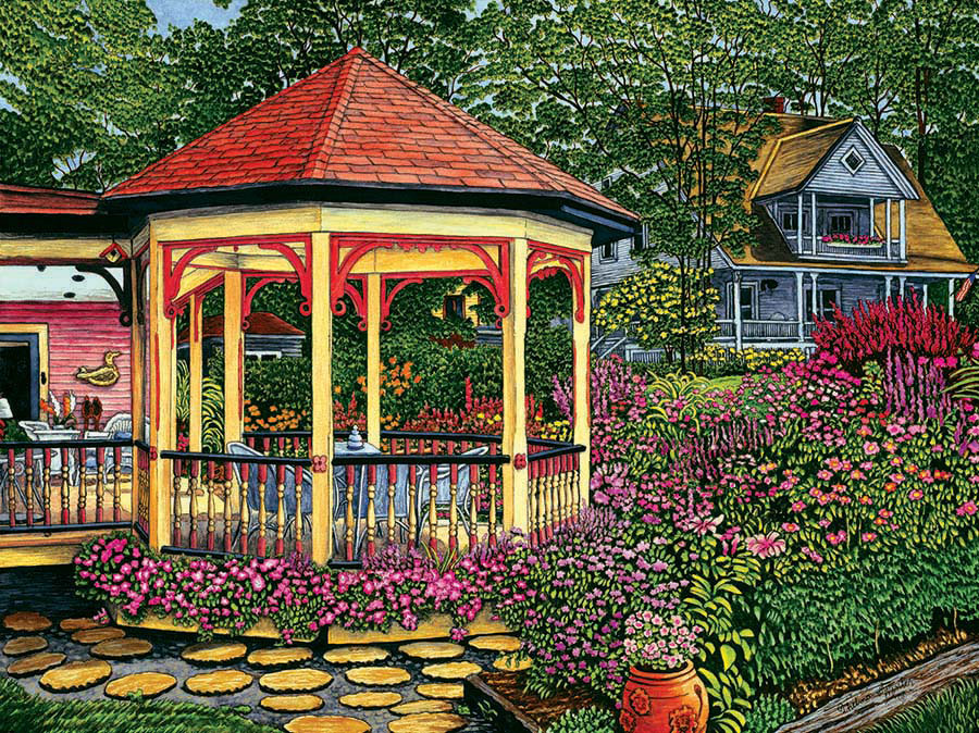 Gazebo At Chautauqua Jigsaw Puzzle Puzzlewarehouse Com