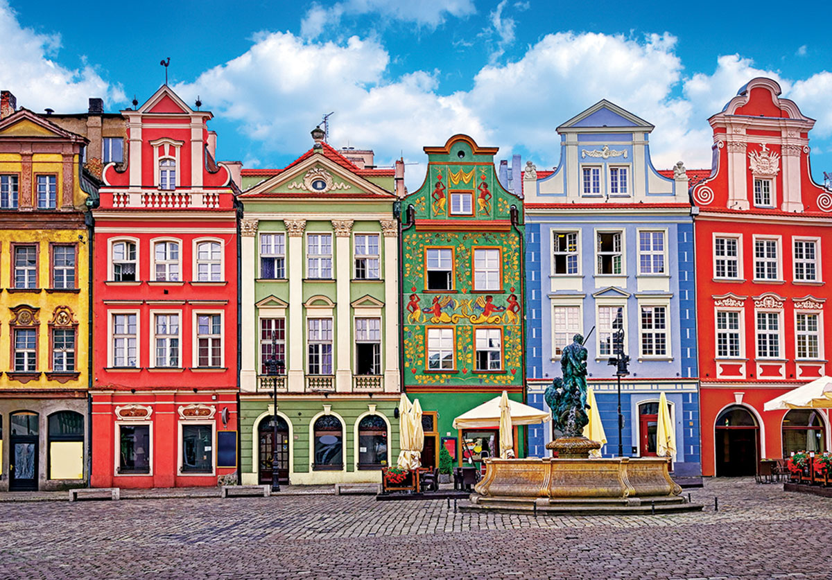 Colorful Buildings Ponzan Poland - Scratch and Dent Jigsaw Puzzle