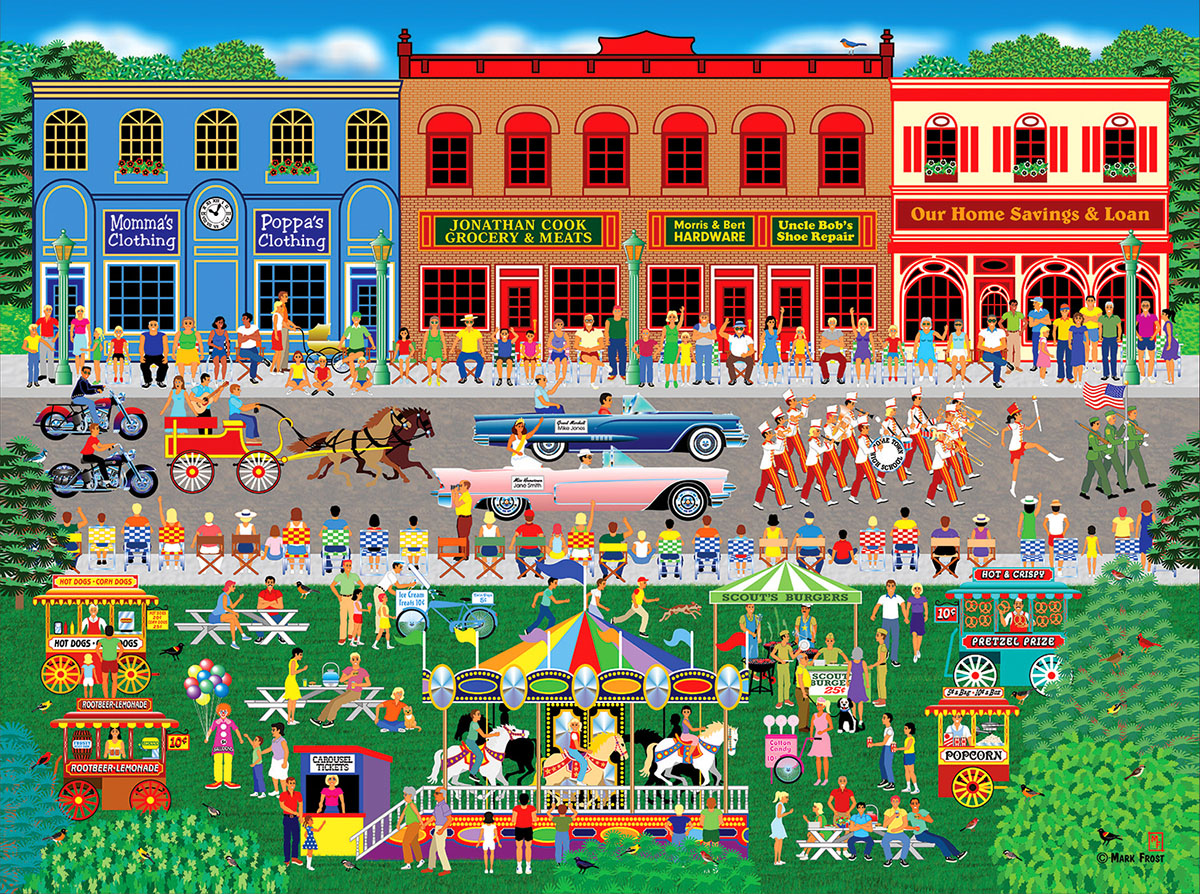Home Town Parade Carnival Jigsaw Puzzle
