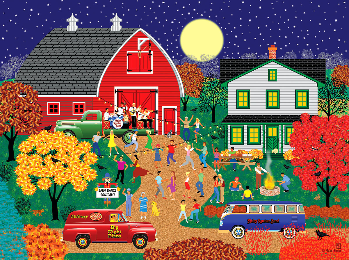 Barn Dance Farm Jigsaw Puzzle