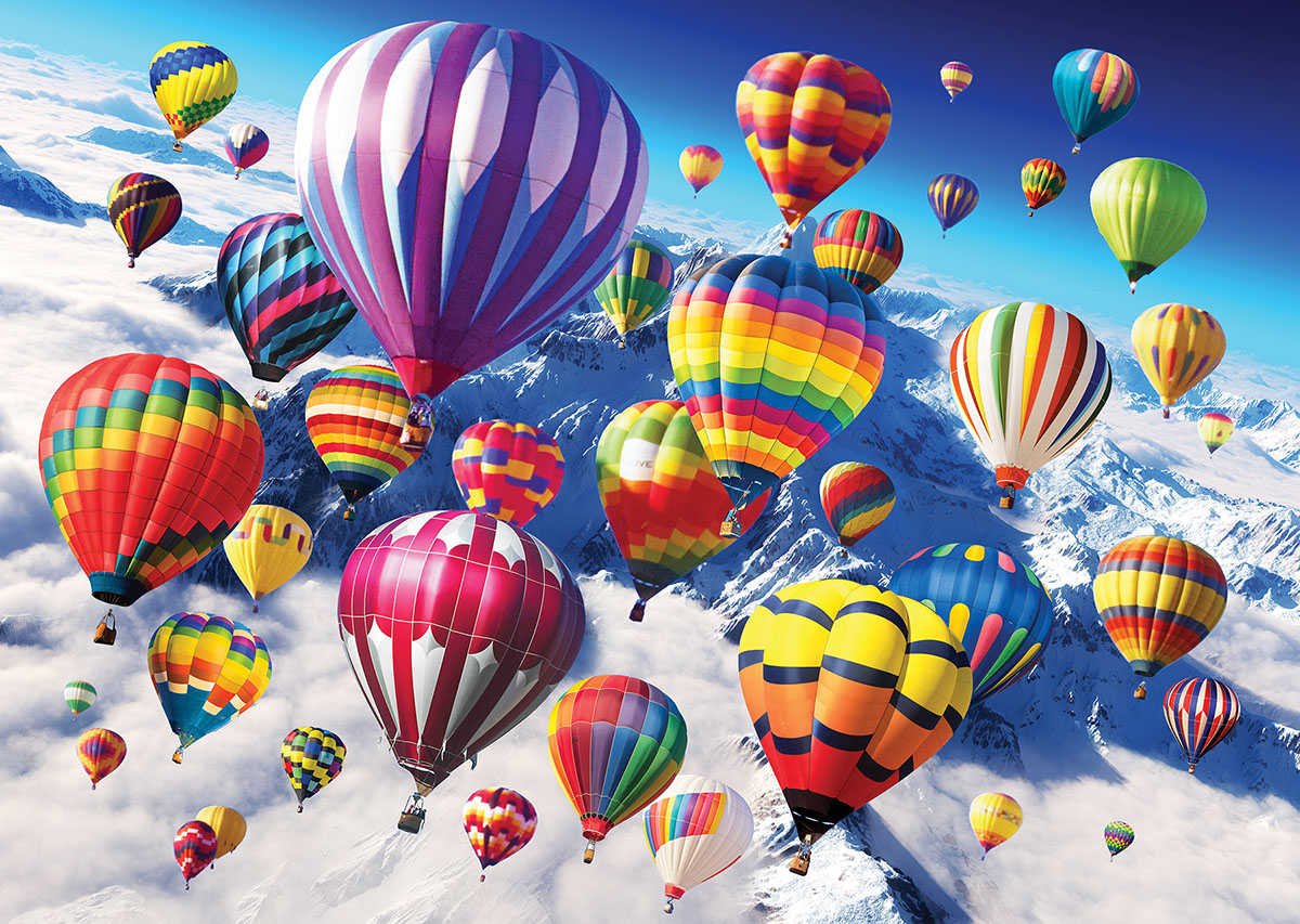 Above the Skies - Scratch and Dent Balloons Jigsaw Puzzle