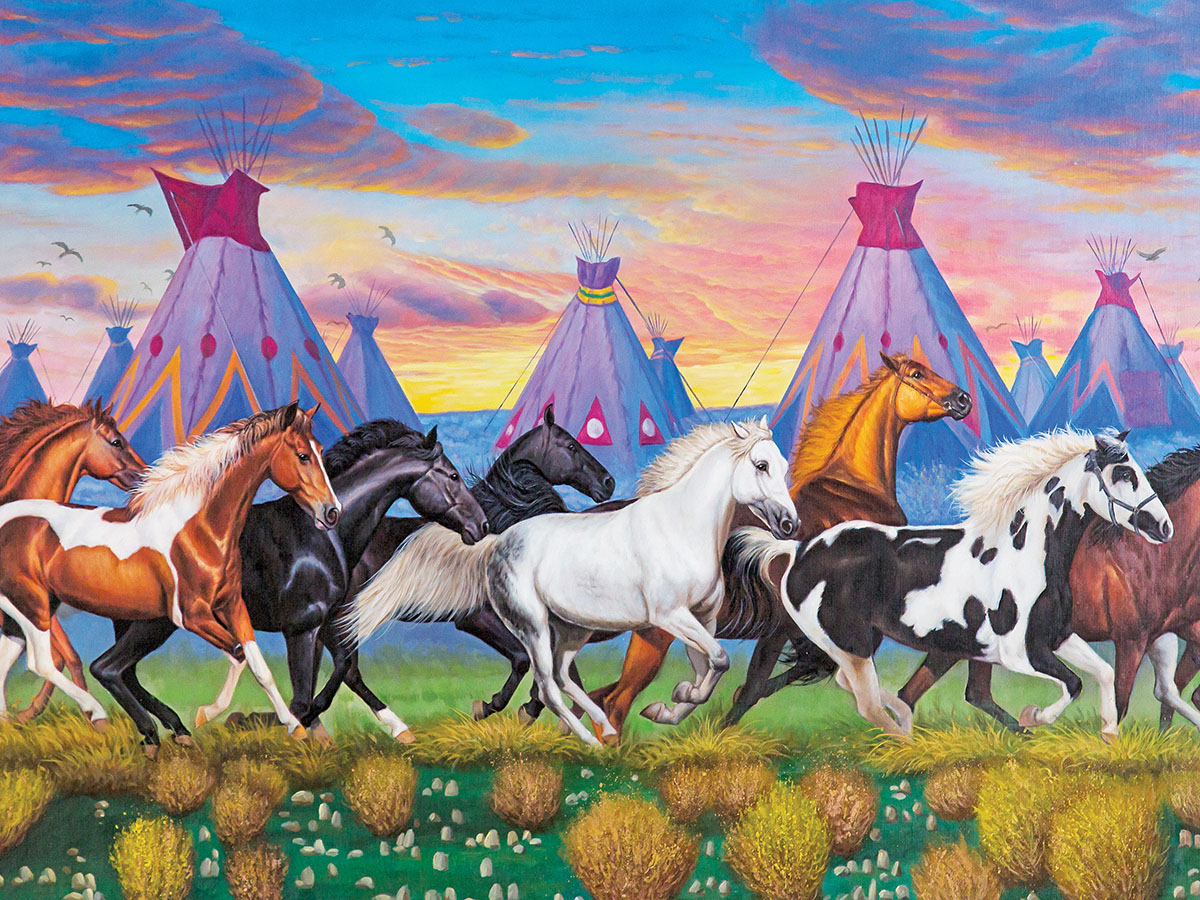 Indian Ponies - Scratch and Dent Horses Jigsaw Puzzle