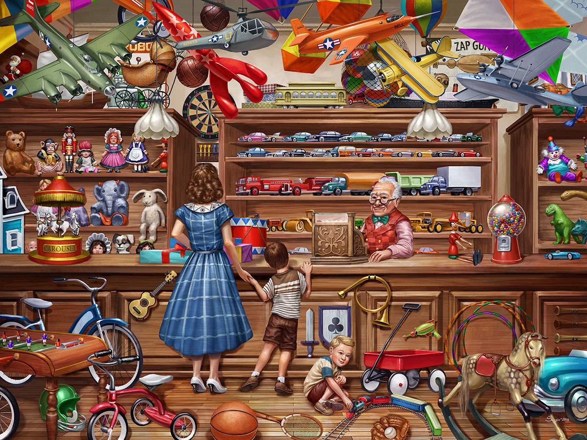 Vintage Toy Shop Nostalgic / Retro Jigsaw Puzzle