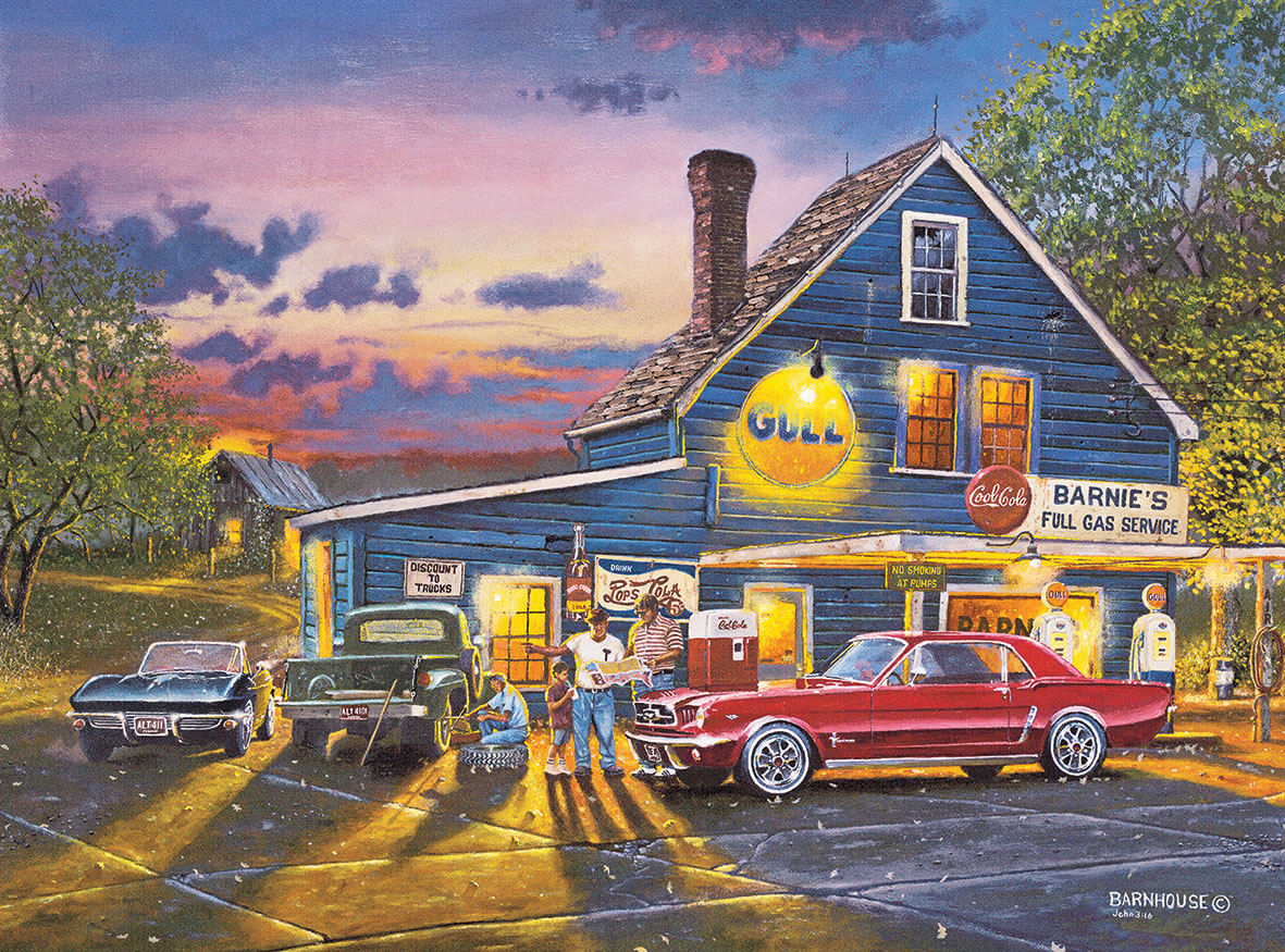 Taking the Back Roads Nostalgic / Retro Jigsaw Puzzle