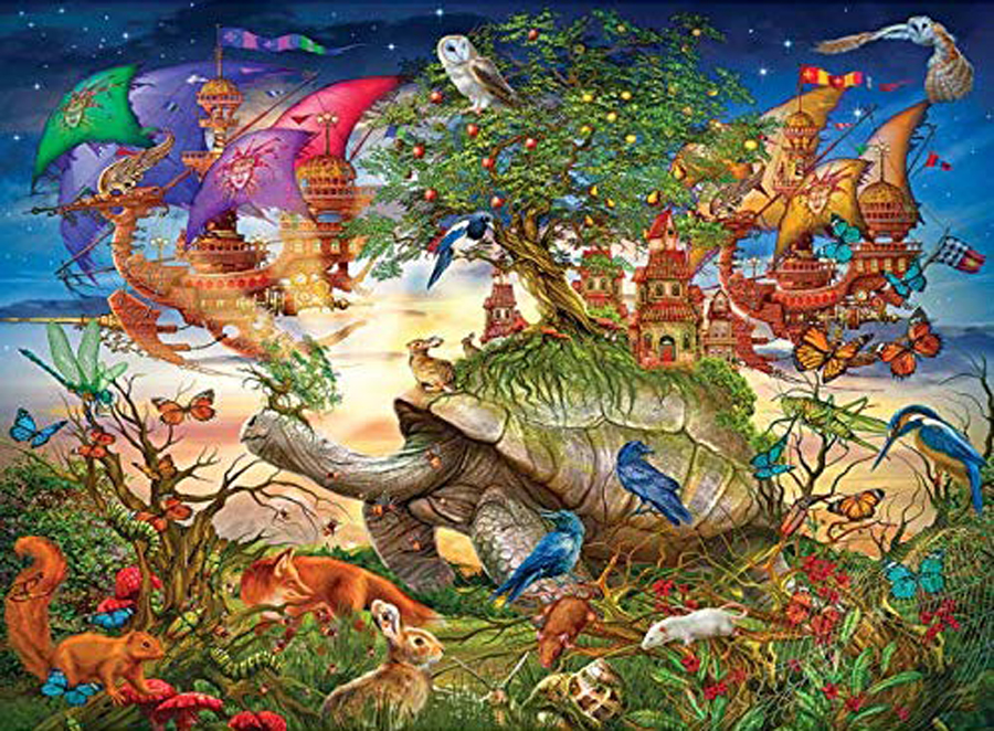 Holographic Puzzle - Evening Stroll Fantasy Jigsaw Puzzle