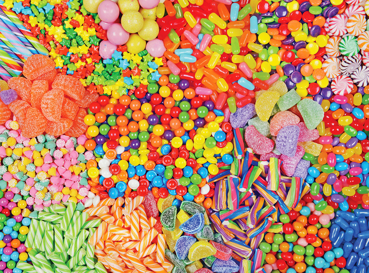 Colorful Candy Mix - Scratch and Dent Sweets Jigsaw Puzzle