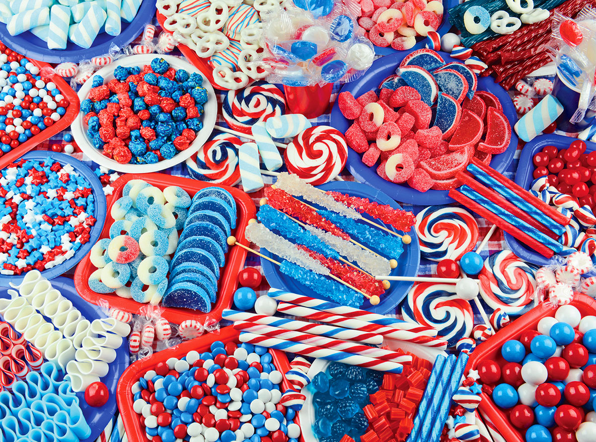 Candy Celebration - Scratch and Dent Fourth of July Jigsaw Puzzle