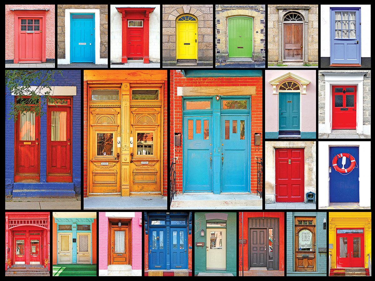 Colorful Doors Jigsaw Puzzle