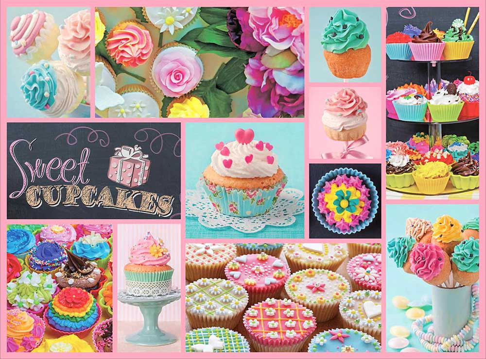 Cupcakes Collage Jigsaw Puzzle