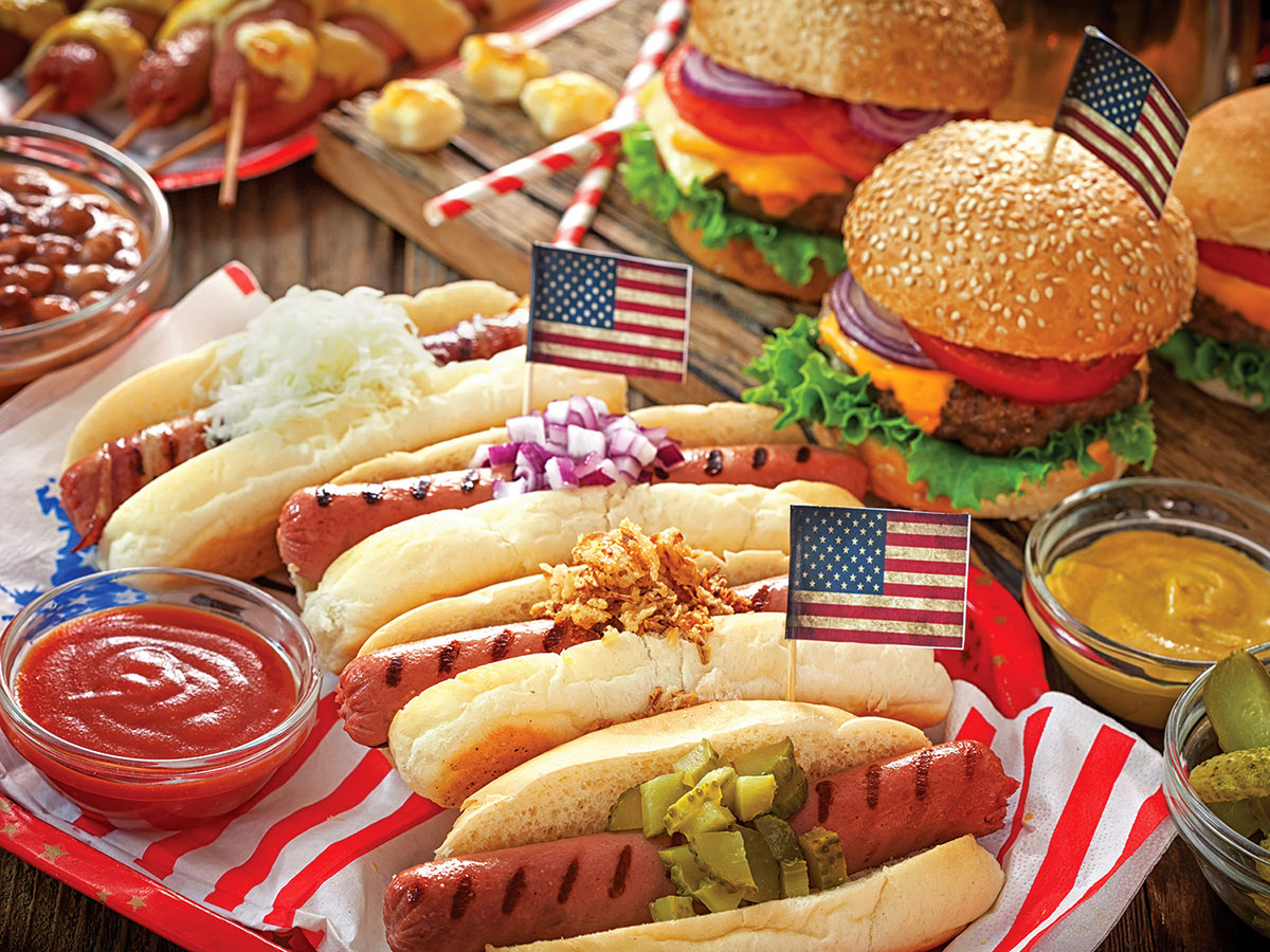 American Picnic Fourth of July Jigsaw Puzzle