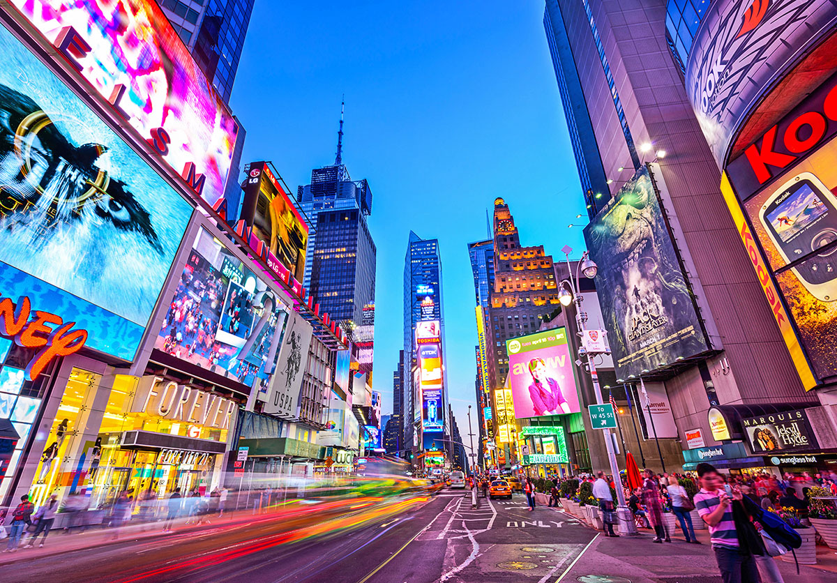times square new york city jigsaw puzzle puzzlewarehouse com