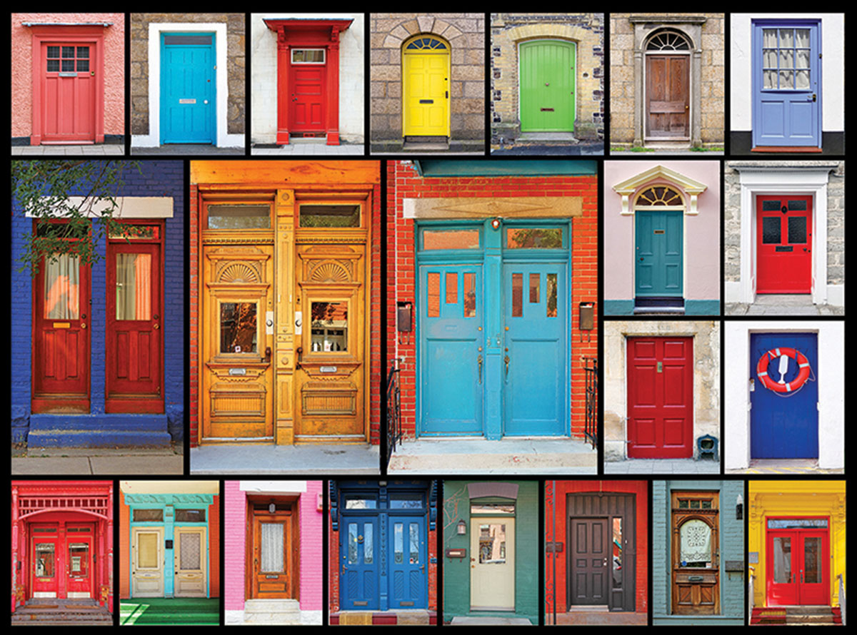 Colorful Doors Everyday Objects Jigsaw Puzzle