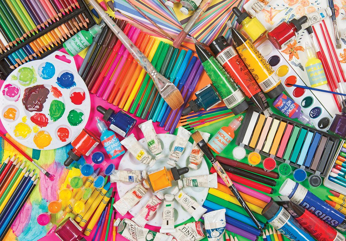 Art Supplies, 1500 Pieces, Lafayette Puzzle Factory | Puzzle Warehouse
