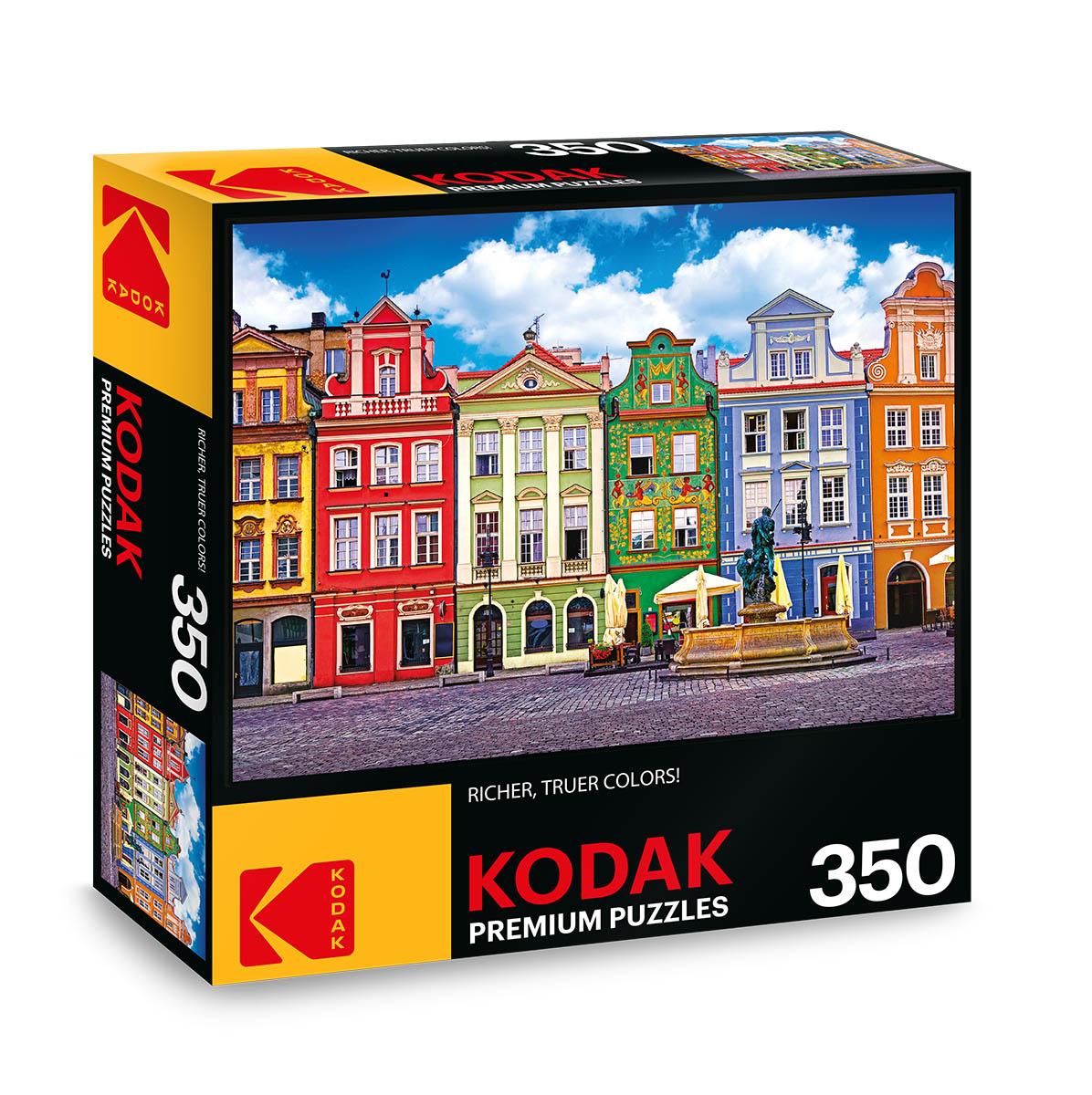KODAK Premium Puzzles - Colorful Buildings, Ponzan, Poland Photography Jigsaw Puzzle