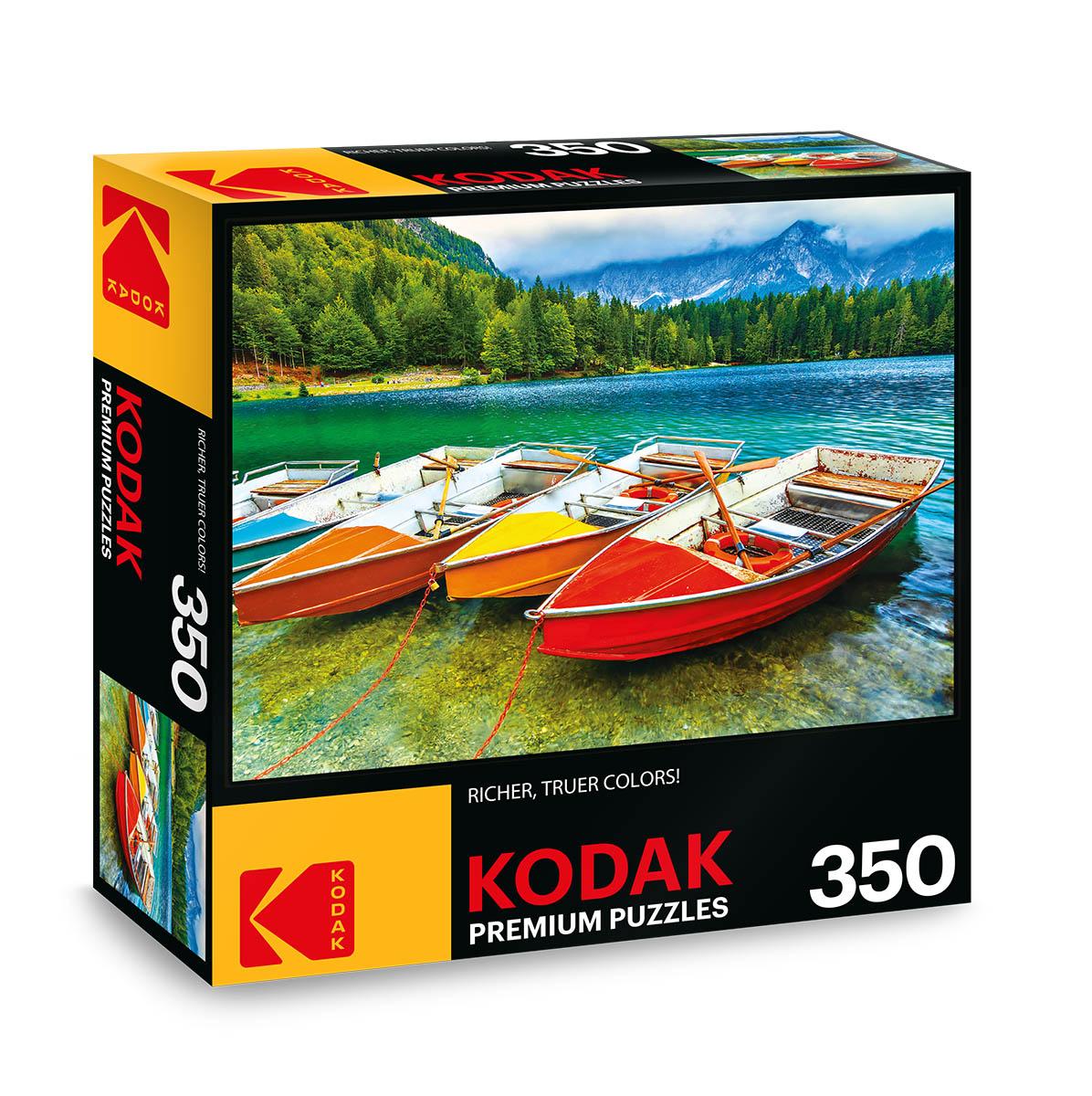 KODAK Premium Puzzles - Colorful Boats on the Lake Boats Jigsaw Puzzle