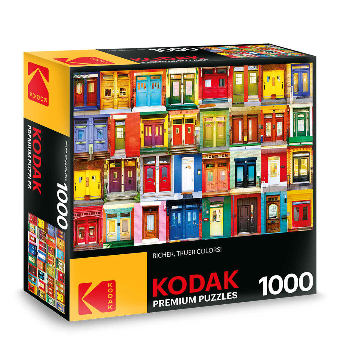 KODAK Premium Puzzles - Colorful Montreal Doors Everyday Objects Jigsaw Puzzle