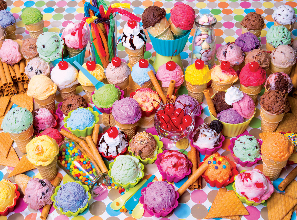 Kodak - Variety of Colorful Ice Cream Food and Drink Jigsaw Puzzle