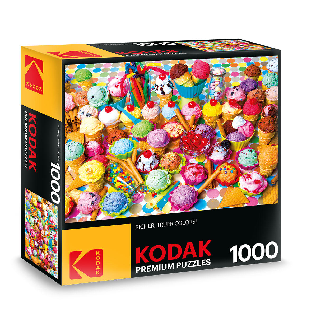 KODAK Premium Puzzles - Variety of Colorful Ice Cream Photography Jigsaw Puzzle