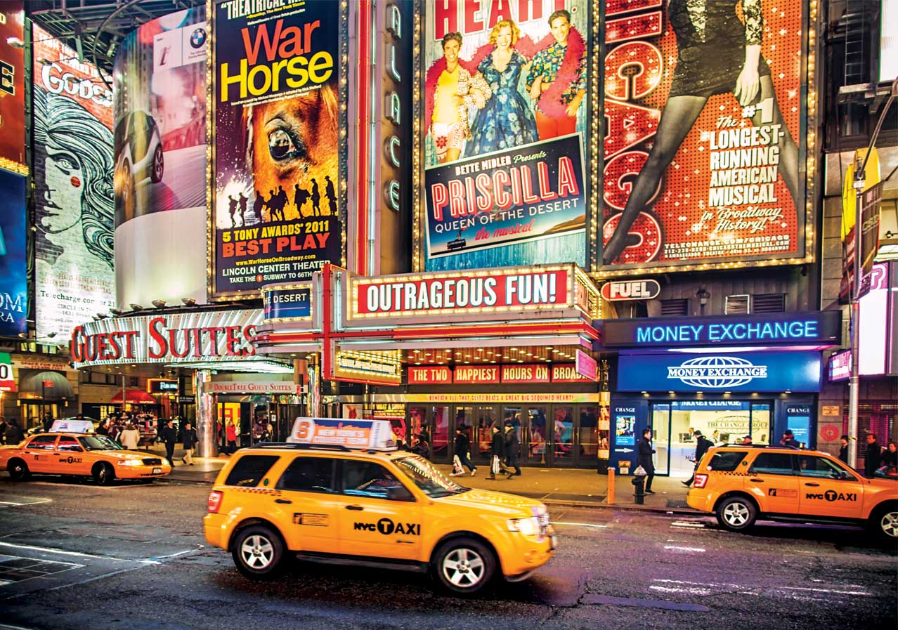 Bright Lights Big City NYC New York Jigsaw Puzzle