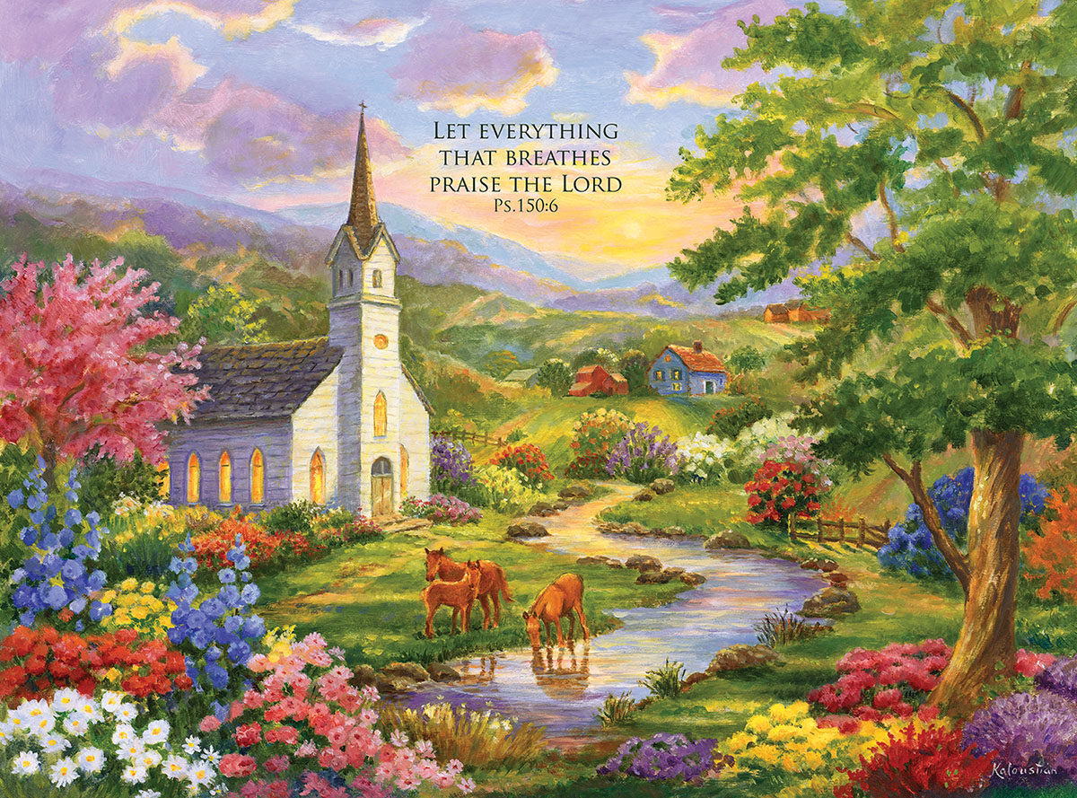 Serenity - with Inspirational Quote Inspirational Jigsaw Puzzle