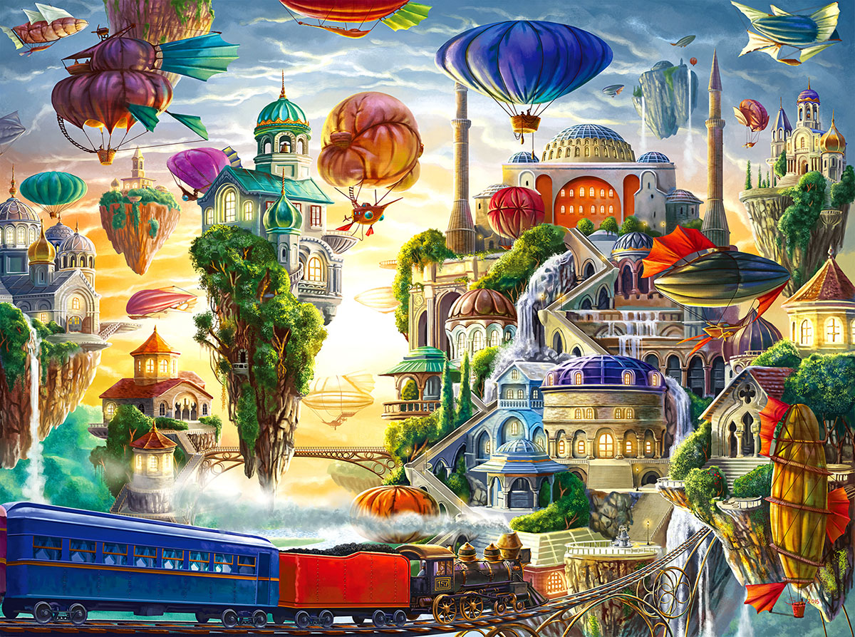 Floating Sky City - Scratch and Dent Surreal Jigsaw Puzzle