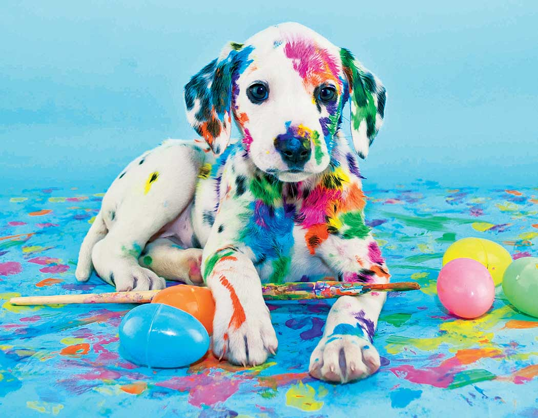 Painted Puppy Dogs Jigsaw Puzzle