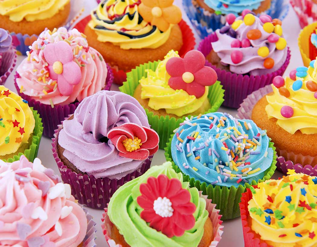 Colorful Cupcakes Food and Drink Jigsaw Puzzle